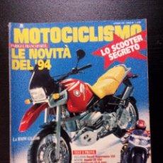 Coches y Motocicletas: MOTOCICLISMO 1993 (ITALIA) LE NOVITÁ DEL 94 LO SCOOTER SEGRETO BMW GS1100 TESTS . Lote 92366535