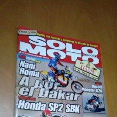 Coches y Motocicletas: REVISTA SOLO MOTO Nº 1335 ENERO DE 2002 NANI ROMA DAKAR HONDA SP2 SBK DUCATI MONSTER 620 QUAD. Lote 94531950