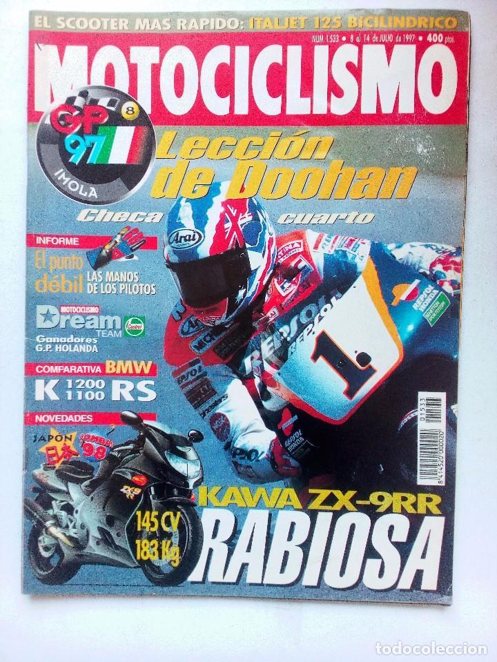 REVISTA MOTOCICLISMO Nº 1533 AÑO 1997. DOOHAN COMPARATIVA BMW K1200 1100 RS KAWA ZK-9RR (Coches y Motocicletas - Revistas de Motos y Motocicletas)