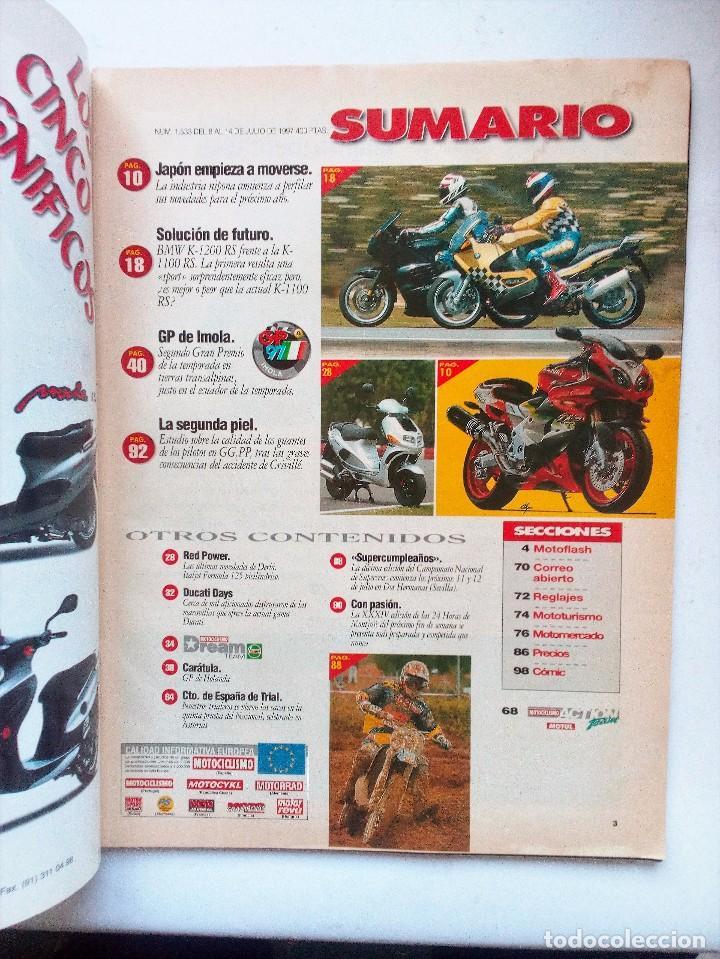 Coches y Motocicletas: REVISTA MOTOCICLISMO Nº 1533 AÑO 1997. DOOHAN COMPARATIVA BMW K1200 1100 RS KAWA ZK-9RR - Foto 2 - 94803223