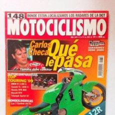 Coches y Motocicletas: REVISTA MOTOCICLISMO Nº 1638 AÑO 1999. PRUEBA BMW R 850 C / KAWASAKI ZX-12R . Lote 94804907