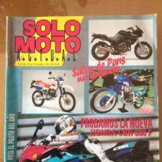 Coches y Motocicletas: REVISTA SOLO MOTO DICIEMBRE 1990. Lote 96587426