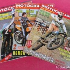 Coches y Motocicletas: 3 REVISTAS - MOTOCICLISMO -.. Lote 97392775