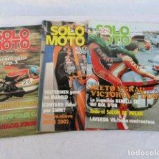 Coches y Motocicletas: 3 REVISTAS - SOLO MOTO -. AÑO 1977.. Lote 98644215
