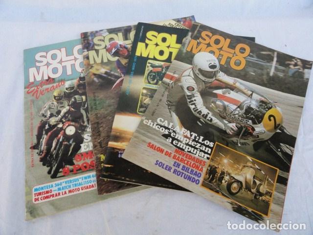 4 REVISTAS - SOLO MOTO -. AÑOS 1979-80. (Coches y Motocicletas - Revistas de Motos y Motocicletas)