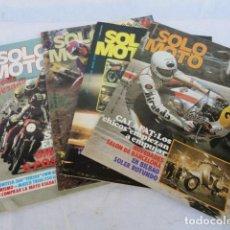 Coches y Motocicletas: 4 REVISTAS - SOLO MOTO -. AÑOS 1979-80.. Lote 98645839