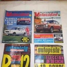 Coches y Motocicletas: AUTOPISTA - RENAULT 12 COUPE - SEAT 1800 - SIMCA 1300 - SEAT 127 - AÑO 1970 Y 1972 - 4 REVISTAS. Lote 98717935