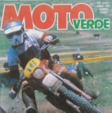 Automobili e Motociclette: REVISTA MOTO VERDE NÚMERO 23. JUNIO 1980. Lote 207102187