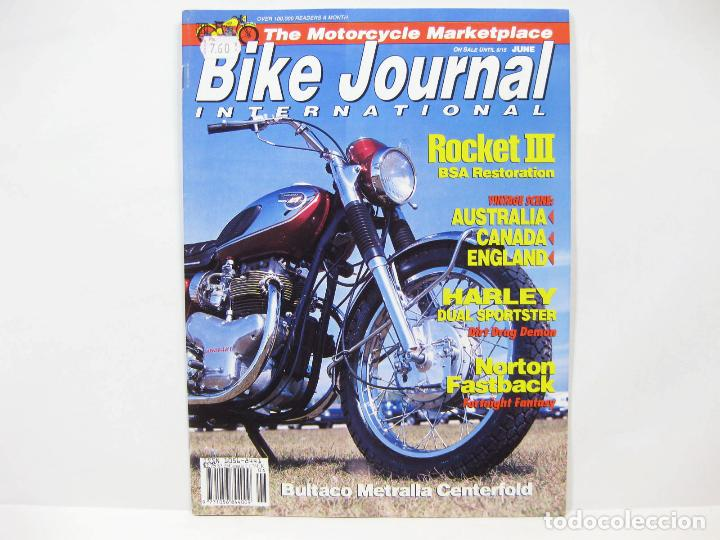 REVISTA DE MOTOS BIKE JOURNAL INTERNATIONAL 6 - ROCKET III BSA - HARLEY  SPORTSTER - BULTACO METRALLA