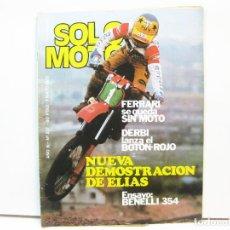 Coches y Motocicletas: REVISTA DE MOTOS SOLO MOTO - AÑO 6 Nº 237 - MAYO DE 1980. Lote 101047743