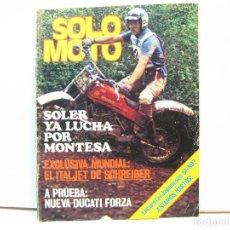 Coches y Motocicletas: REVISTA DE MOTOS SOLO MOTO - AÑO 6 Nº 242 - JUNIO DE 1980. Lote 101047863
