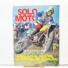 Coches y Motocicletas: REVISTA DE MOTOS SOLO MOTO - AÑO 6 Nº 253 - SEPTIEMBRE DE 1980. Lote 101048047