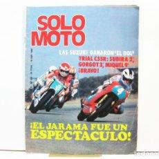 Coches y Motocicletas: REVISTA DE MOTOS SOLO MOTO - AÑO 6 Nº 254 - SEPTIEMBRE DE 1980. Lote 101048059