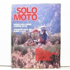 Coches y Motocicletas: REVISTA DE MOTOS SOLO MOTO - AÑO 6 Nº 256 - OCTUBRE DE 1980. Lote 101048203