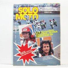 Coches y Motocicletas: REVISTA DE MOTOS SOLO MOTO - AÑO 6 Nº 259 - OCTUBRE DE 1980. Lote 101048307