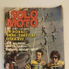 Coches y Motocicletas: REVISTA SOLO MOTO Nº 10 ORIGINAL AÑO 1975 INCLUYE EL POSTER. Lote 101092299