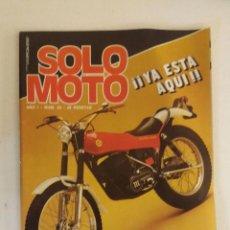 Coches y Motocicletas: REVISTA SOLO MOTO Nº 23 ORIGINAL AÑO 1976 INCLUYE EL POSTER. Lote 101093047