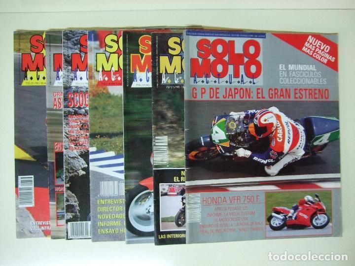 LOTE 7 REVISTAS SOLO MOTO AÑO 1990 Nº 724 727 729 730 731 732 733 REVISTA MOTOS ASPAR CARDUS (Coches y Motocicletas - Revistas de Motos y Motocicletas)