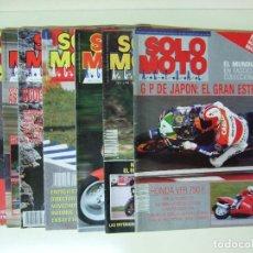 Coches y Motocicletas: LOTE 7 REVISTAS SOLO MOTO AÑO 1990 Nº 724 727 729 730 731 732 733 REVISTA MOTOS ASPAR CARDUS. Lote 101205183