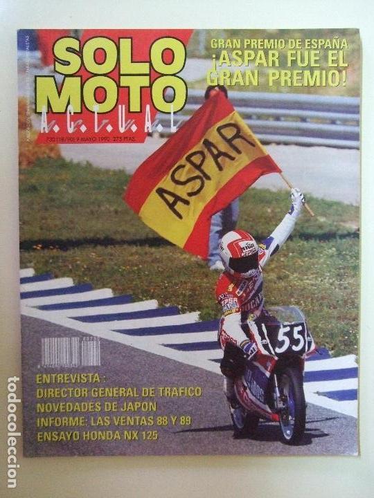 Coches y Motocicletas: LOTE 7 REVISTAS SOLO MOTO AÑO 1990 Nº 724 727 729 730 731 732 733 REVISTA MOTOS ASPAR CARDUS - Foto 6 - 101205183