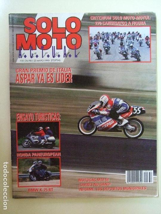Coches y Motocicletas: LOTE 7 REVISTAS SOLO MOTO AÑO 1990 Nº 724 727 729 730 731 732 733 REVISTA MOTOS ASPAR CARDUS - Foto 8 - 101205183