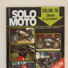 Coches y Motocicletas: REVISTA SOLO MOTO Nº 36 ORIGINAL AÑO 1976 INCLUYE EL POSTER EXCELENTE ESTADO. Lote 101264055