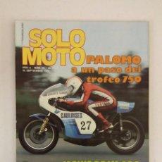 Coches y Motocicletas: REVISTA SOLO MOTO Nº 54 ORIGINAL AÑO 1976 INCLUYE EL POSTER EXCELENTE ESTADO. Lote 101264683