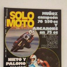 Coches y Motocicletas: REVISTA SOLO MOTO Nº 56 ORIGINAL AÑO 1976 INCLUYE EL POSTER EXCELENTE ESTADO. Lote 101264747