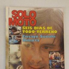Coches y Motocicletas: REVISTA SOLO MOTO Nº 57 ORIGINAL AÑO 1976 INCLUYE EL POSTER EXCELENTE ESTADO. Lote 101264831