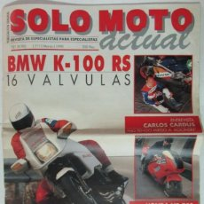 Coches y Motocicletas: SOLO MOTO ACTUAL 721 1990 CARLOS CARDUS, HONDA NR 750. BMW K-100, TARRES, LUISAKE, SITO PONS. Lote 102090259