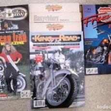 Coches y Motocicletas: LOTE DE REVISTAS AMERICANAS Y EUROPEAS, AMERICAN IRON, EASY RAIDER. Lote 102180467
