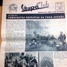 Coches y Motocicletas: REVISTA VESPA CLUB Nº 31 FEBRERO 1960 VESPA CLUB DE ESPAÑA . Lote 102200303