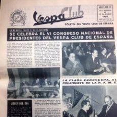 Coches y Motocicletas: REVISTA VESPA CLUB Nº 32 FEBRERO 1960 VESPA CLUB DE ESPAÑA . Lote 102200491