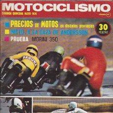 Coches y Motocicletas: REVISTA MOTOCICLISMO SEGUNDA QUINCENA MAYO 1974 PRUEBA MORINI 350. Lote 102201467