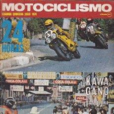 Coches y Motocicletas: REVISTA MOTOCICLISMO SEGUNDA QUINCENA JULIO 1974 PRUEBA MOTO GUZZI 850-T. Lote 102201767