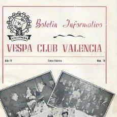 Coches y Motocicletas: REVISTA VESPA CLUB VALENCIA Nº 14 ENERO FEBRERO 1961. Lote 102221931