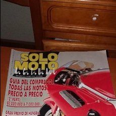 Coches y Motocicletas: REVISTA ANTIGUA DE MOTOS SÓLO MOTO ACTUAL AÑO 1992 MOTOCICLISMO N° 842. Lote 102845091