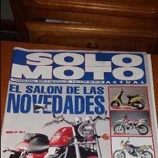 Coches y Motocicletas: REVISTA ANTIGUA DE MOTOS SÓLO MOTO ACTUAL 1993 MOTOCICLISMO N° 885. Lote 102845103