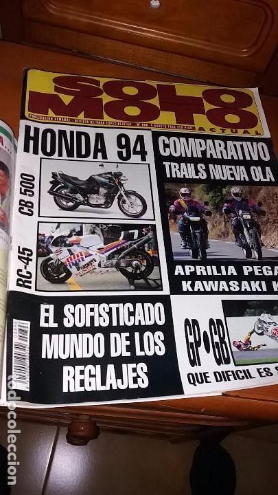 Coches y Motocicletas: Revistas antigua de motociclismo SOLO MOTO N° 895 y revista antiguas Andalucía N°4 motos año 1993 - Foto 2 - 102978359