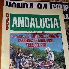 Coches y Motocicletas: REVISTAS ANTIGUA DE MOTOCICLISMO SOLO MOTO N° 895 Y REVISTA ANTIGUAS ANDALUCÍA N°4 MOTOS AÑO 1993. Lote 102978359