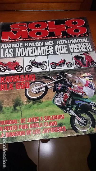 Coches y Motocicletas: Revistas antigua de motociclismo SOLO MOTO N° 884 y revista antiguas Andalucía N°1 motos año 1993 - Foto 2 - 102978923