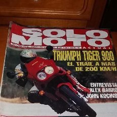 Coches y Motocicletas: REVISTA ANTIGUA DE MOTOCICLISMO SOLO MOTO ACTUAL N° 888 MOTOS AÑO 1993. Lote 102979035