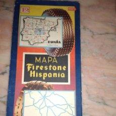 Coches y Motocicletas: MAPA DE CARETERAS FIRESTONE MADRID TOLEDO ALBACETE, AVILA, GUADALAJARA. Lote 103987999