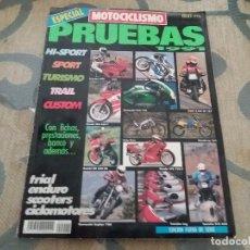 Coches y Motocicletas: ANTIGUA REVISTA AÑO 1991 NUMERO ESPECIAL DE MOTOCICLISMO MOTOS. Lote 105330203