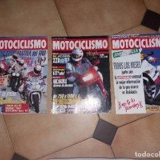 Coches y Motocicletas: LOTE 3 ANTIGUAS REVISTAS ANTIGUA REVISTA AÑO 1992 1993 N° 1314 1300 1290 DE MOTOCICLISMO MOTOS. Lote 105345571