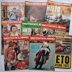 Coches y Motocicletas: ANGEL NIETO DERBI LOTE 9 REVISTA MOTOCICLISMO AÑOS '70. Lote 105728911