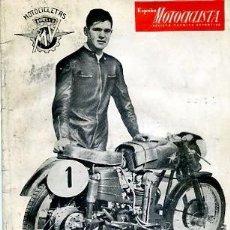 Coches y Motocicletas: REVISTA ESPAÑA MOTOCICLISTA Nº 36 OCTUBRE 1954 II CAMPEONATO ESPAÑA REGULARIDAD/OSSA MOTOPEDAL 50. Lote 107082271