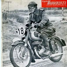 Coches y Motocicletas: REVISTA ESPAÑA MOTOCICLISTA Nº 38 DICIEMBRE 1954 I RALLYE ALICANTE - VILLENA . Lote 107082867