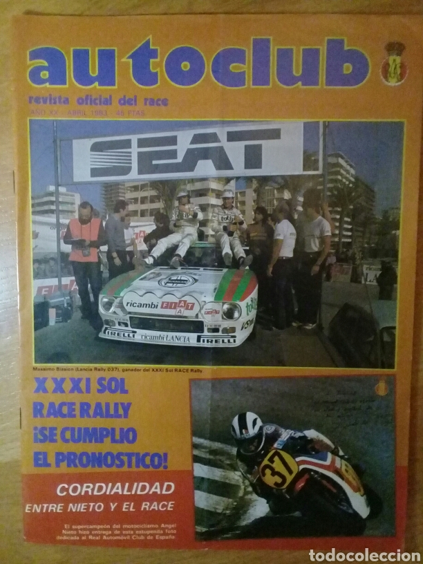 Coches y Motocicletas: Revista Auto club Abril 1983 Race Sol Race Rally - Foto 1 - 107605454