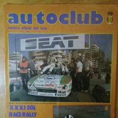 Coches y Motocicletas: REVISTA AUTO CLUB ABRIL 1983 RACE SOL RACE RALLY. Lote 107605454